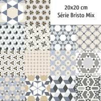 Carrelage imitation ciment mix 20x20 cm BRISTO - 1m² Commander le produit (1m²)