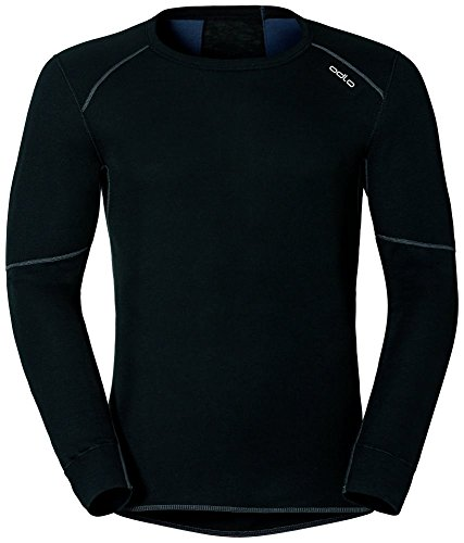 Odlo Herren Shirt Long Sleeve Crew Neck X-Warm Unterhemd, Black, L