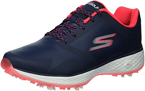 Skechers 2018 GO Golf Eagle Pro Womens Spikes Waterproof Shoes 14869 Navy/Pink 5UK