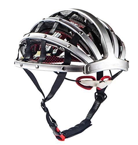 Pkfinrd Fahrradhelm_klapphelm fahrradhelm Verstellbarer Komfort Sicherheit fahrradhelm Outdoor Sports Radfahren@Silber_M (56-62 cm)