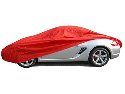 ballier Autoabdeckung Puff Indoor - Größe M 420x176x149 cm, Rot