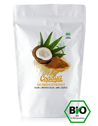 Kokosblütenzucker BIO | 1000g | Kokoszucker | Zuckerersatz | Premium Qualität ohne Zusätze | Vorratspackung