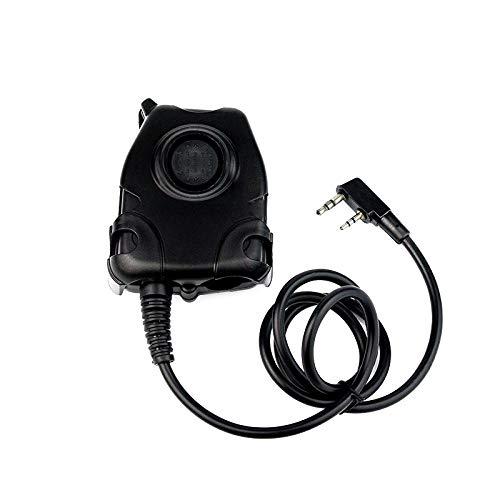 TOOGOO Ptt Headset Adapter Fuer Z Bowman Elite Ii Hd01 Hd02 Hd03 H50 H60 Fuer Kenwood Baofeng Uv-5R Walkie Talkie Ptt-adapter