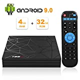 Android TV Box, Android 9.0 TV BOX 4 GB RAM 32 GB ROM H6 Quad core corex-A53...
