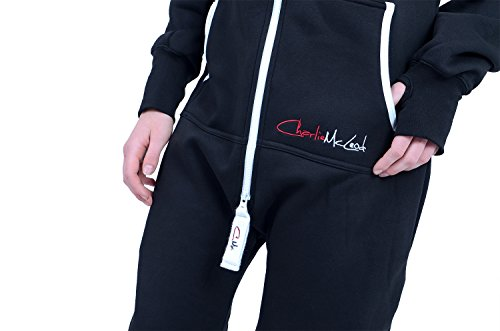 The Classic Unisex Onesie in Black and Grn YEL Red Stripes - XL - 5
