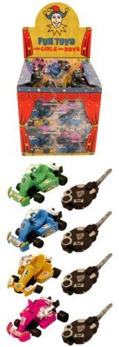 8 Key Spring Go Karts Car Boys Toys Party Bag Fillers Lucky Dip Kids by Childrens Party Accessories