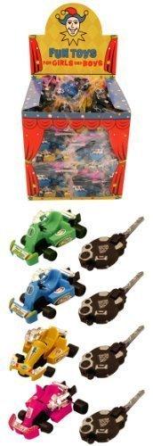 Preisvergleich Produktbild 8 Key Spring Go Karts Car Boys Toys Party Bag Fillers Lucky Dip Kids by Childrens Party Accessories