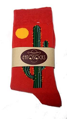 auffällige und lustige Socken für Damen und Herren, perfekt als Geschenk geeignet (Kaktus, 1)