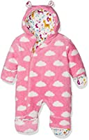 Kite Baby Girls 0-24m Cloud Fleece All-in-One Coat, Pink, 18-24 Months