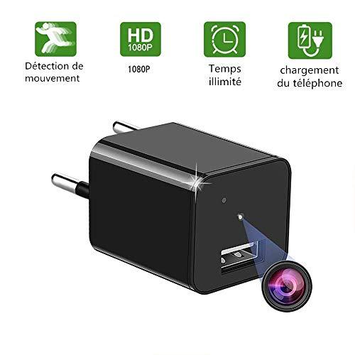 Mini caméra espion Yilutong HD 1080P Caméra de Surveillance Portable Micro Nanny Cam avec détection de Mouvement, caméra de sécurité compacte pour l'intérieur et l'extérieur