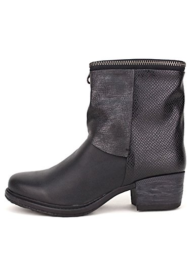Cendriyon Bottine Noire WAINE Mode Chaussures Femme