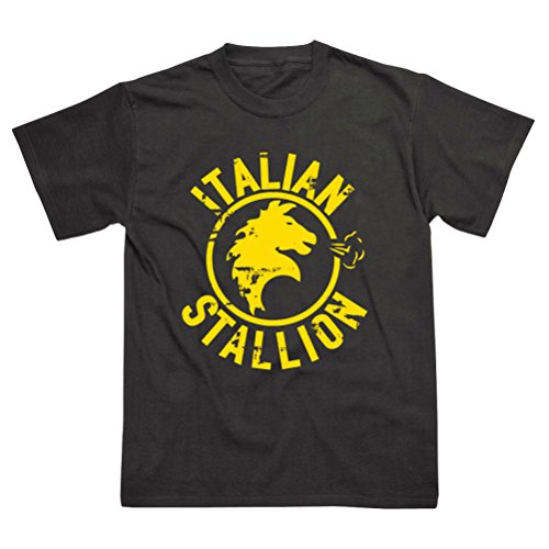 Italian Stallion Inspired by Rocky Balboa Black T-Shirt