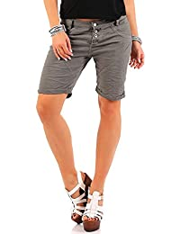 Urban Surface Damen Stretch Chino Shorts LUS-100 Boyfriend