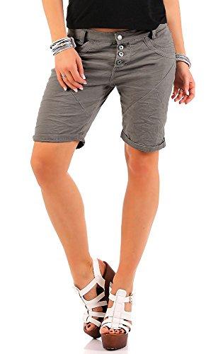 Urban Surface Damen Reach Chino Shorts LUS-100 Boyfriend light grey S