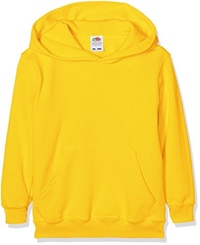 Fruit of the Loom Jungen Kapuzenpullover Classic Hoodie, Gelb (Sunflower Yellow), 5-6 Jahre