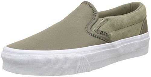 Vans Classic Slip-on, Zapatillas Sin Cordones para Mujer, Varios Colores (Vintage Indigo/Chalk Pink Qf5), 38.5 EU