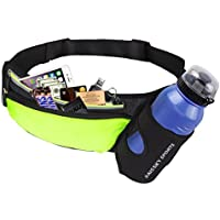 "Sport Trinkgürtel Mit Wasserflaschenhalter Bauchtasche Gürteltasche Hüfttasche alle Handys unter 6.8"" Pockets Waistpacks Outdoors für Fitness Radfahren Wandern Walking für iPhone XS/8Plus Damen Herren"