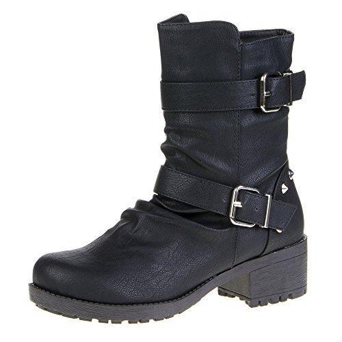 Damen Schuhe, 6-114, STIEFELETTEN Schwarz 6-114