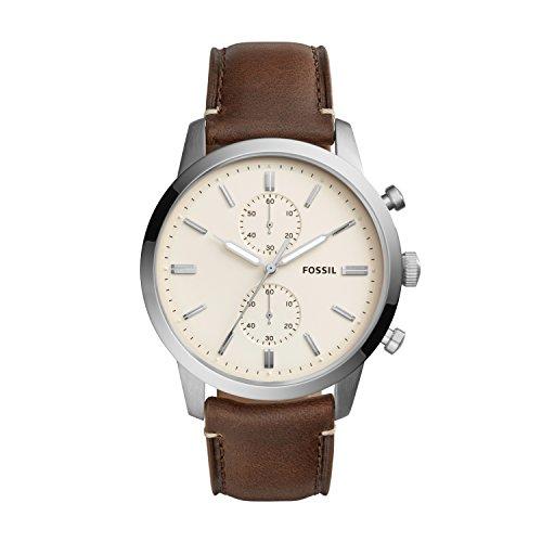 Fossil Herren Quarz Uhr mit Leder Armband FS5350