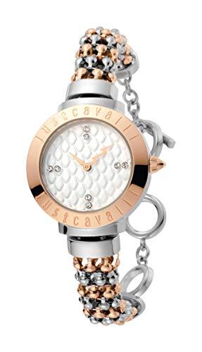 Just Cavalli Damen Analog Quarz Uhr mit Edelstahl Armband JC1L048M0075