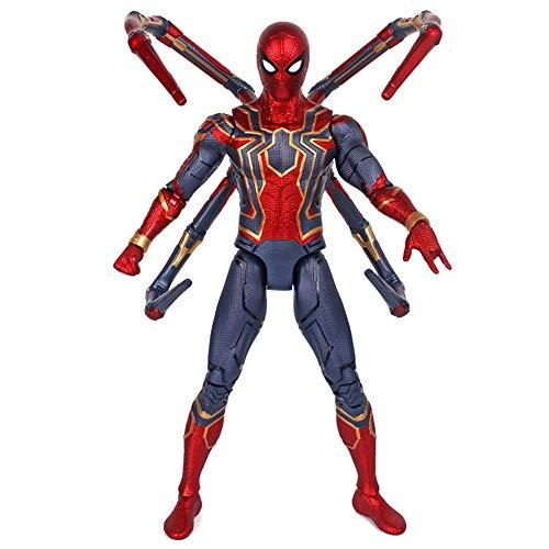 Xiao Jian- 18-Zoll-großer Kampfanzug aus Stahl Spider-Man Avengers 3 Wireless-Kriegslicht super bewegliches Modell Spielzeug Spielzeugmodell