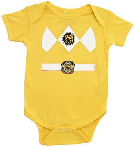 (Power Rangers Baby Ranger Kostüm Strampler Onesie (12-18 Monate, gelb))