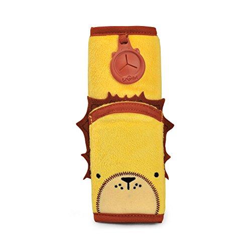 Trunki Coussin Sangle pour Ceinture de Sécurité Enfant – SnooziHedz Leeroy le Lion (Jaune)