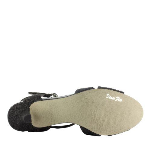 Easy Street Glamorous Synthétique Sandales Black Glitter