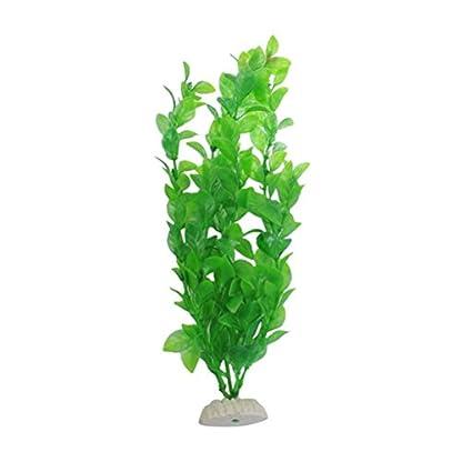 UEETEK Fish Tank Green Plastic Artificial Plants Aquarium Water Plants Decorations - PACK OF 3 4