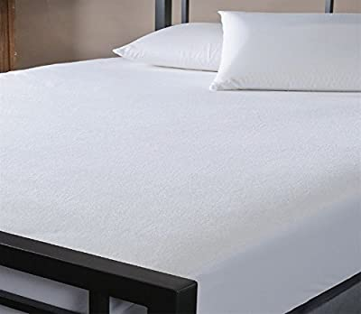 LUXURY WATERPROOF TERRY TOWELLING MATTRESS PROTECTOR DOUBLE SIZE 140 x 190 x 32cms