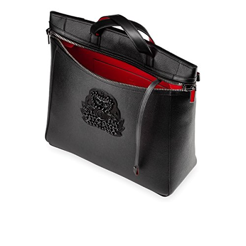 3a15876dde5 Christian Louboutin Men s 3175114CM53 Black Leather Travel Bag – HD ...