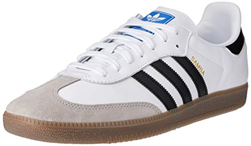 Adidas Samba OG, Zapatillas para Hombre, Blanco (Footwear White/Core Black/Clear Granite 0), 44 2/3 EU