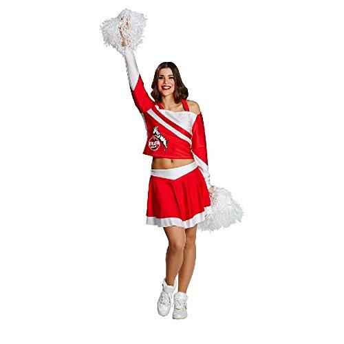 1.FC Köln Hennes Cheerleader Damen Kostüm Kleid Gr.34