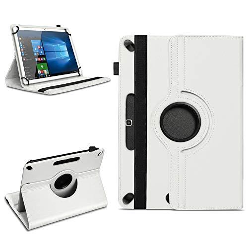 Tablet Tasche für 10 - 10.1 Zoll Hülle Schutzhülle Case Cover 360° Drehbar Neu, Farben:Weiss, Modell:Acepad A96