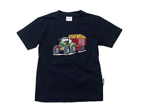 Zintgraf ÖkoTex T-Shirt Stickerei Traktor Silagewagen #T24 (128, Blau)