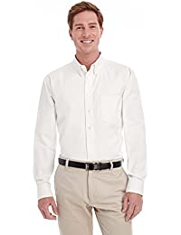 Men's Tall Foundation 100% Cotton Long-Sleeve Twill Shirt with TeflonÖ