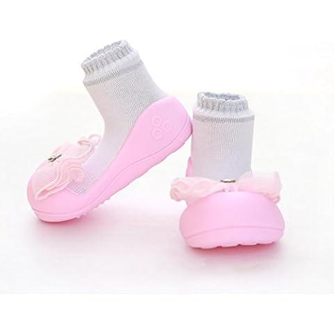 Rosa de Cristal attipas bebé Walker–Calzado Infantil Zapatos Zapatillas