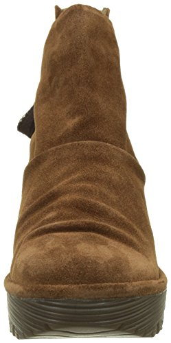 FLY London Yama, Bottes Classics courtes, doublure froide femme Marron (Camel)