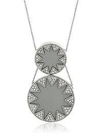 House of Harlow 1960 Womens Double Sunburst Necklace
