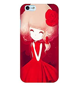 Printvisa Sweet Girl In Red Back Case Cover for Apple iPhone 6S Plus