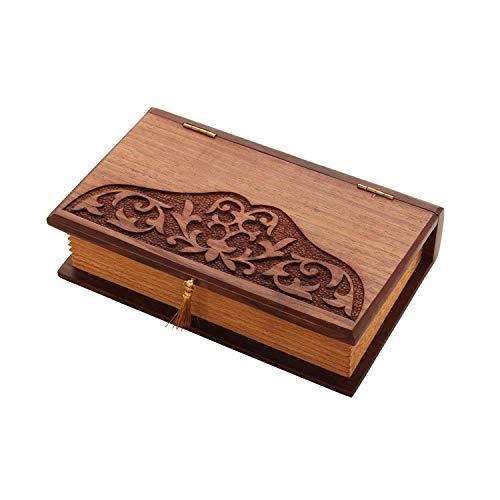 Store indya–fatto a mano in legno jewelry box keepsake organizer portaoggetti multiuso scatola portagioie per donne uomini girls supporto in ottone