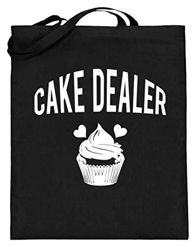 Cake Dealer - Kuchen Händler Food Lover Motiv - Schlichtes Und Witziges Design - Jutebeutel (mit langen Henkeln)