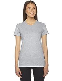 Ladies' Fine Jersey Short-Sleeve T-Shirt HEATHER GREY L