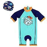 Zilee Costume da Bagno per Bebè Costume Intero per Bebè Felpa a Maniche Lunghe per Bebè a Manica Lunga Quick Dry Muta 9 Mesi-7 Anni Nuoto Bagno Surf Abbigliamento da Mare