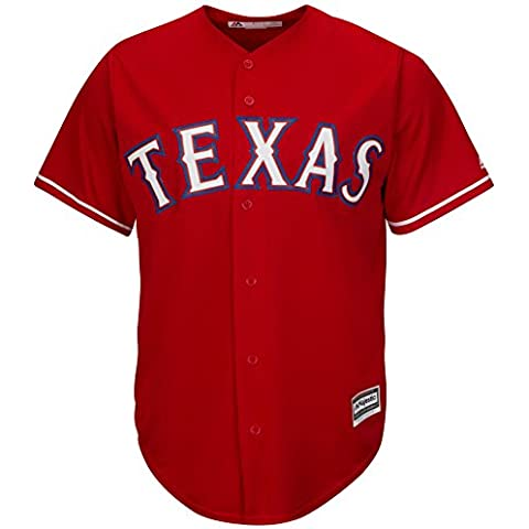 Majestic Texas Rangers Cool Base MLB Alternate rosso, rosso