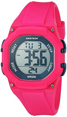 Armitron Sport Damen 45/7080mag Navy Blau akzentuierten Digital Chronograph Hot Pink Harz Strap Watch