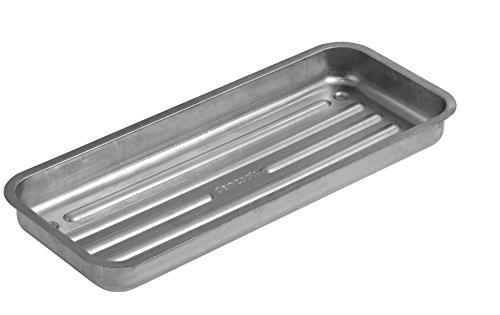 Barquette à charbon Dancook - (produit n°120 130), conçue pour les barbecues Dancook 7000 et 8100, aluminium-acier.