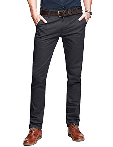 Match uomo pantaloni casual slim #8025(8025 grigio army#2(army gray#2),34w x 31l)
