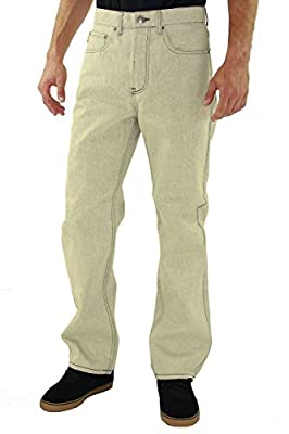 Kayden K Men's 2Tone Stitch Classic Fit Jeans White