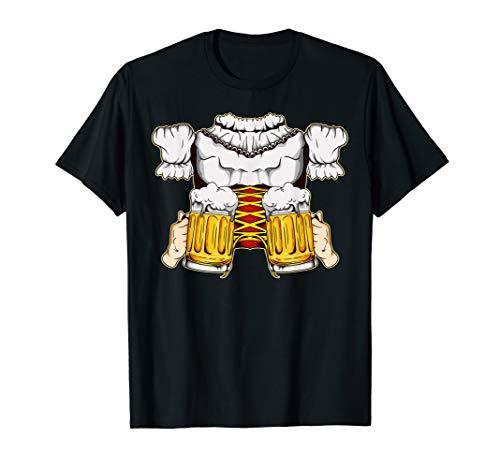 Kostüm Girl Bierkrug - Lustiges Dirndl Bayern Mädchen Oktoberfest Prost Trinkbier T-Shirt